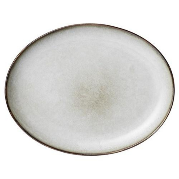 Mittagsteller oval Amera grau