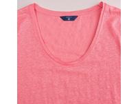 Leinen T-Shirt mit Rundhalsausschnitt