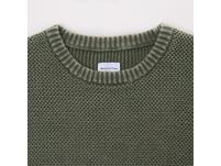 Herringbone Crew-Neck Pullover