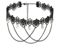 Choker - Black Flowers