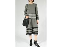CECILIE COPENHAGEN Kleid mit Kufiya-Muster