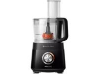 PHILIPS HR7510/10, Küchenmaschine, Rührschüssel-Kapazität: 2.1 l, 800 Watt, Schwarz