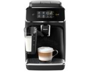 PHILIPS EP 2231/40 2200 LatteGo, Kaffeevollautomat, 1.8 l Wassertank, 15 bar, Matt-Schwarz/Klavierlack-Schwarz