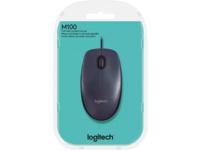 LOGITECH M100 USB Maus, kabelgebunden, Schwarz