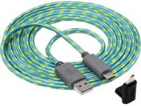 SNAKEBYTE USB-C Ladekabel USB-C Ladekabel, Blau/Gelb
