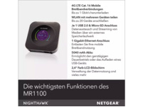 NETGEAR Nighthawk M1 MR1100 Router 1000 Mbit/s