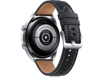 SAMSUNG Galaxy Watch 3 41 mm Bluetooth, Smartwatch, Echtleder, Größe S/M (130 - 190 mm), Mystic Silver/Black