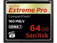 SANDISK Extreme Pro Compact Flash Speicherkarte, 64 GB, 160 MB/s