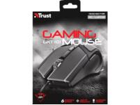 TRUST GXT 101 Gaming Maus, kabelgebunden, Schwarz