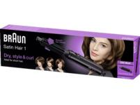 BRAUN Satin Hair 1 AS 110, Heißluftbürste, 200 Watt, Schwarz