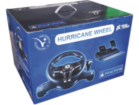 READY 2 GAMING PS4 HURRICANEWHEEL with Pedals, Sony licensed, Lenkrad und Fußpedale, Schwarz
