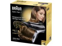 BRAUN Satin Hair 7 HD 710 mit IONTEC, Haartrockner, 2200 Watt, Schwarz