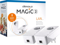Powerline Adapter DEVOLO devolo 8260 Magic 2 LAN 1-1-2 Starter Kit Powerline 2400 kbit/s kabelgebunden