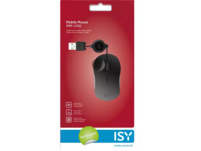 ISY IMM-1000 Mobile Optical Mouse Silent Computermaus, Kabel, Schwarz