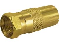 SCHWAIGER GOUST9300 F-Stecker, Gold