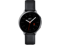 SAMSUNG Galaxy Watch Active2 Stainless Steel 44mm (LTE) SI, Smartwatch, Echtleder, M/L, Silver