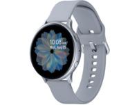 SAMSUNG Galaxy Watch Active2 Aluminium 44mm CS, Smartwatch, Fluorkautschuk, M/L, Cloud Silver