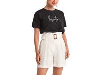Shirt mit gesticktem Schriftzug - Jerseyshirt