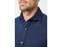 Jersey Hemd im Indigo Denim Look - Slim Fit