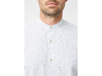 Stehkragenhemd mit floralem Muster - Slim Fit