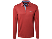 Longsleeve Poloshirt mit Strickkragen - Regular Fit