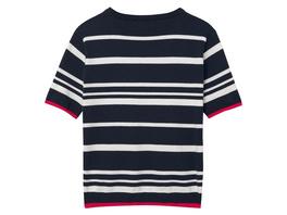 Baumwollstrick T-Shirt mit Breton Streifen