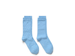 2-Pack Solid-Dot Socken