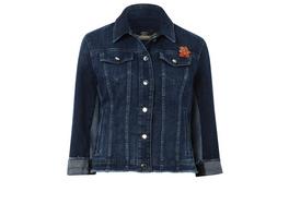 Jeansjacke mit gefransteen Kanten