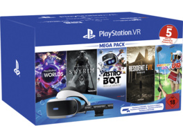 SONY PlayStation VR Mega Pack 2: PlayStation VR, PlayStation Camera, 5 Spiele (VOUCHER), Virtual Reality Set, Schwarz/Weiß