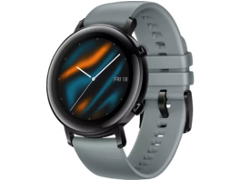 HUAWEI Watch GT 2 42mm Sport, Smartwatch, Fluorkautschuk, 130-200 mm, Blaugrau
