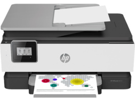 HP OfficeJet 8014 + instant Ink (9 Monate), Multifunktionsdrucker, Grau