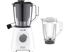 KRUPS KB42Q1 Blendforce 2in1, Standmixer, 600 Watt, Weiß/Dunkelgrau