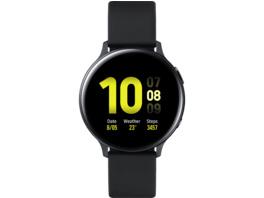 SAMSUNG Galaxy Watch Active2 44 mm LTE, Smartwatch, Fluorkautschuk-Armband, M/L, Aqua Black