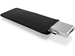 ICY BOX Dual USB Type-C Notebook Dockingstation, Silber