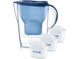 BRITA Marella inkl. 3 MAXTRA+, Tischwasserfilter, MAXTRA+, Blau