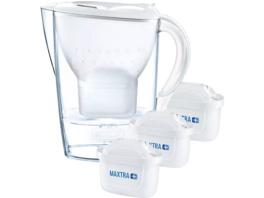 BRITA Marella inkl. 3 MAXTRA+, Tischwasserfilter, MAXTRA+, Weiß