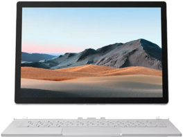 MICROSOFT Surface Book 3, Convertible mit 13.5 Zoll Display, i5-1035G7 Prozessor, 8 GB RAM, 256 GB SSD, Intel® Iris™ Plus Graphics, Platin
