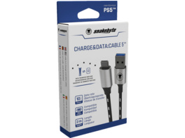 SNAKEBYTE PS5 USB Charge & Data: CABLE 5 (2m) Zubehör PS5, Schwarz/Weiß