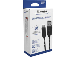 SNAKEBYTE PS5 Charge: Cable 5 PRO™ (5m) USB 2.0 Ladekabel, Schwarz/Weiß