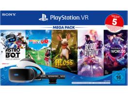 SONY PS VR Mega Pack 3 inkl. PS VR-Headset / PS Camera / PS Camera-Adapter / 5 Spiele (Gutscheincode), Zubehörset, Schwarz
