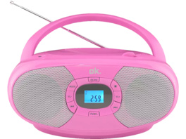 OK. ORC 131-PK STEREO, CD Player, Pink