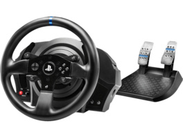 THRUSTMASTER T300 RS (inkl. 2-Pedalset, PS4 / PS3 / PC), Lenkrad, Schwarz