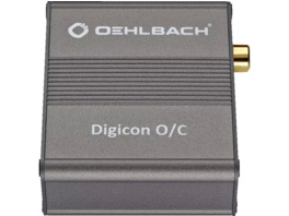 OEHLBACH Digital optisch-elektrischer Audio Wandler Digicon O/C metallic, Optisch-elektrischer Audio Wandler, Metallic braun