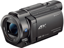 SONY FDR-AX33 Zeiss 4K Camcorder, Exmor R CMOS Sensor, Carl Zeiss, 10x opt. Zoom, Near Field Communication, WLAN, Schwarz