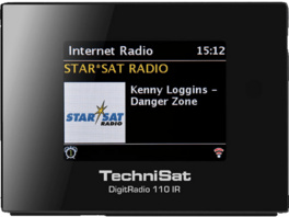 TECHNISAT DIGITRADIO 110 IR, Internetradio, UKW, DAB, DAB+, Internet, Schwarz