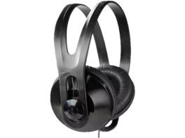 VIVANCO 36503, Over-ear TV-Kopfhörer, geschlossen, kabelgebunden, 5 m Kabel, Schwarz