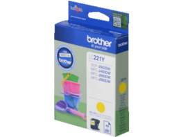 BROTHER Original Tintenpatrone Gelb (LC-221Y)