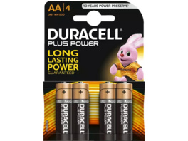 DURACELL Plus Power AA Mignon Batterie, 4 Stück