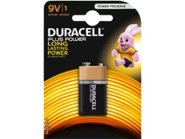 DURACELL Plus Power 9 Volt Batterie, 1 Stück