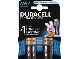DURACELL Ultra Power AAA Micro Batterie, 4 Stück
